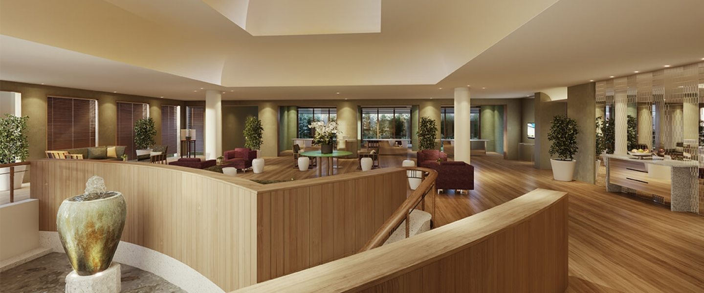 Health and Wellness reception rendering