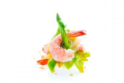 Kale and prawn salad   innovative and tasty cuisine   Chiva-Som Hua Hin