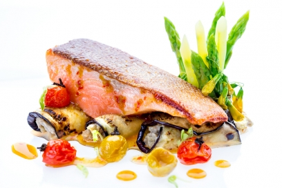Morocco spiced salmon   Baked to preserve flavours and eliminate the addition of oils   Chiva-Som Hua Hin