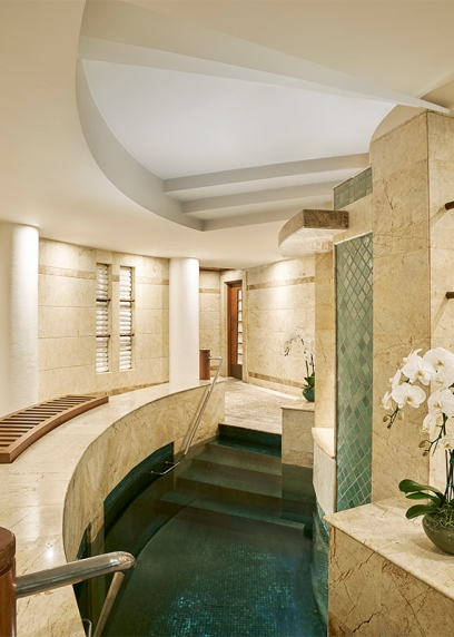 Water therapy spa for treatment and relaxation at Chiva Som Hua Hin